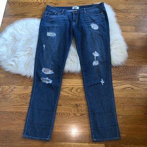 Paige jimmy jimmy skinny distressed patch jeans 32